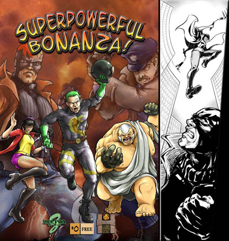 A sample version of the comic book cover to accompany the game