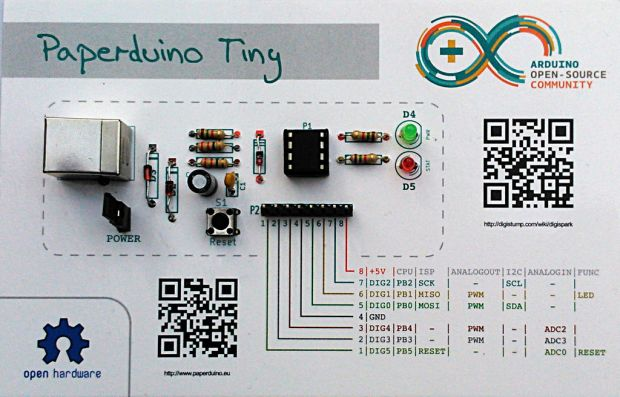 The Paperduino Tiny