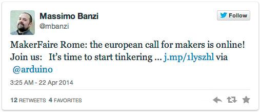 Massimo Banzi on Twitter