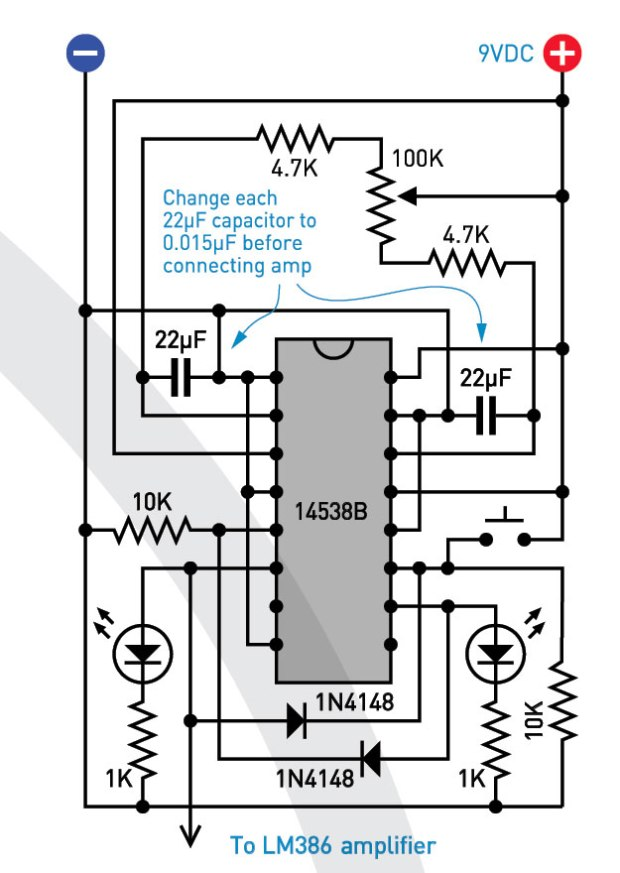 (D) This test circuit will generate pulse pairs summing to approximately 2 seconds.
