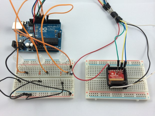 Using an Arduino as an AVR Programmer to flash a new bootloader onto my MicroView