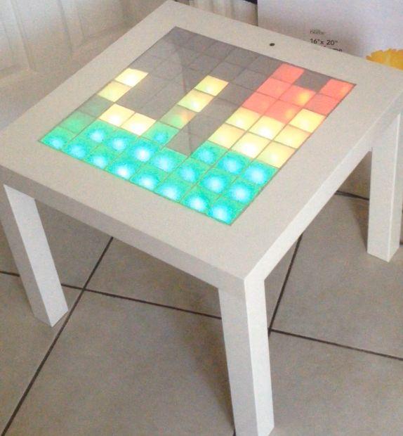 ikea hack music visualizer table make