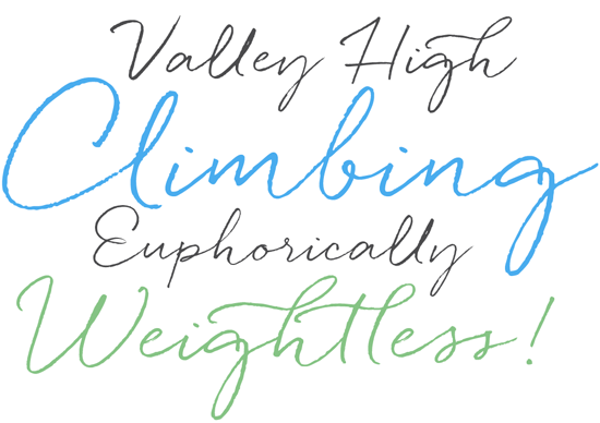 Quickpen font sample