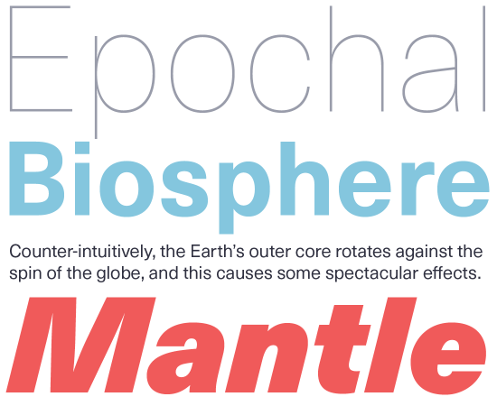 Neue Haas Unica font sample