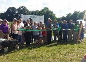 Ribbon cutting ceremony at the Hopkinsville Dog Park in Hopkinsville, KY