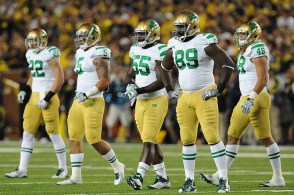 In 2011, Notre Dame and Michigan both wore throwback uniforms for their early-season showdown.
