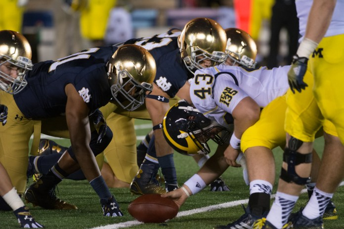 20140906, 2014-2015, 09062014, Amy Ackermann, Football, Michigan vs. Notre Dame, W 31-0-5