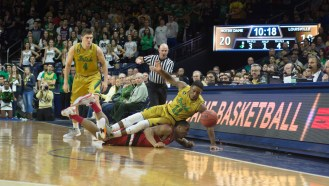 20160213, 20160213, Caitlyn Jordan, Men's Basketball, ND vs Louisville, Purcell Pavilion-3