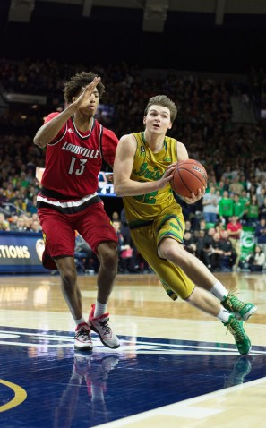20160213, 20160213, Caitlyn Jordan, Men's Basketball, ND vs Louisville, Purcell Pavilion-9