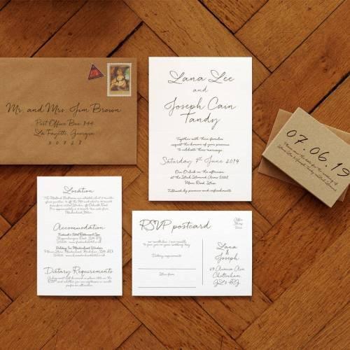 Medium Of Cheap Wedding Invitation Sets