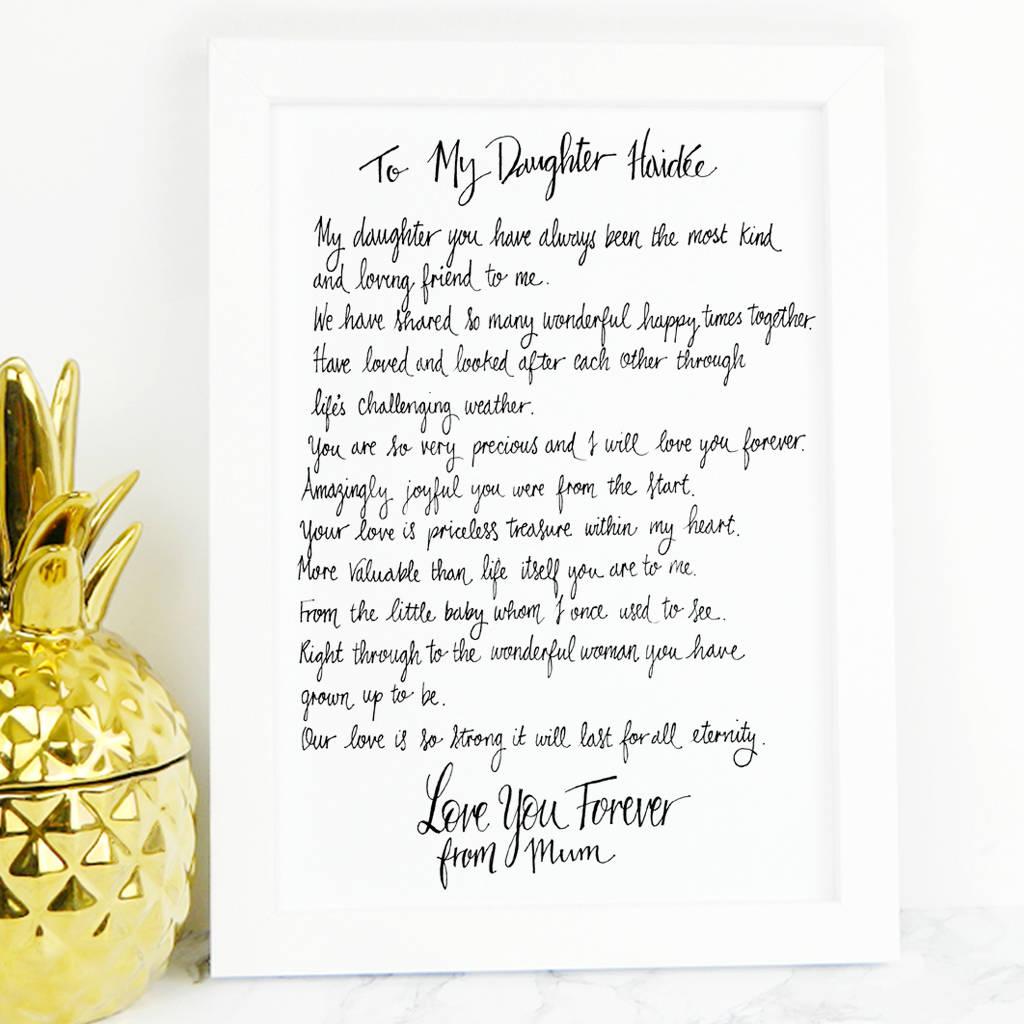 Sterling Daughter Poem Gift Daughter Poem Gift By De Fraine Design London Secret Santa Poems Teachers Secret Santa Poems To Invite houzz 01 Secret Santa Poems