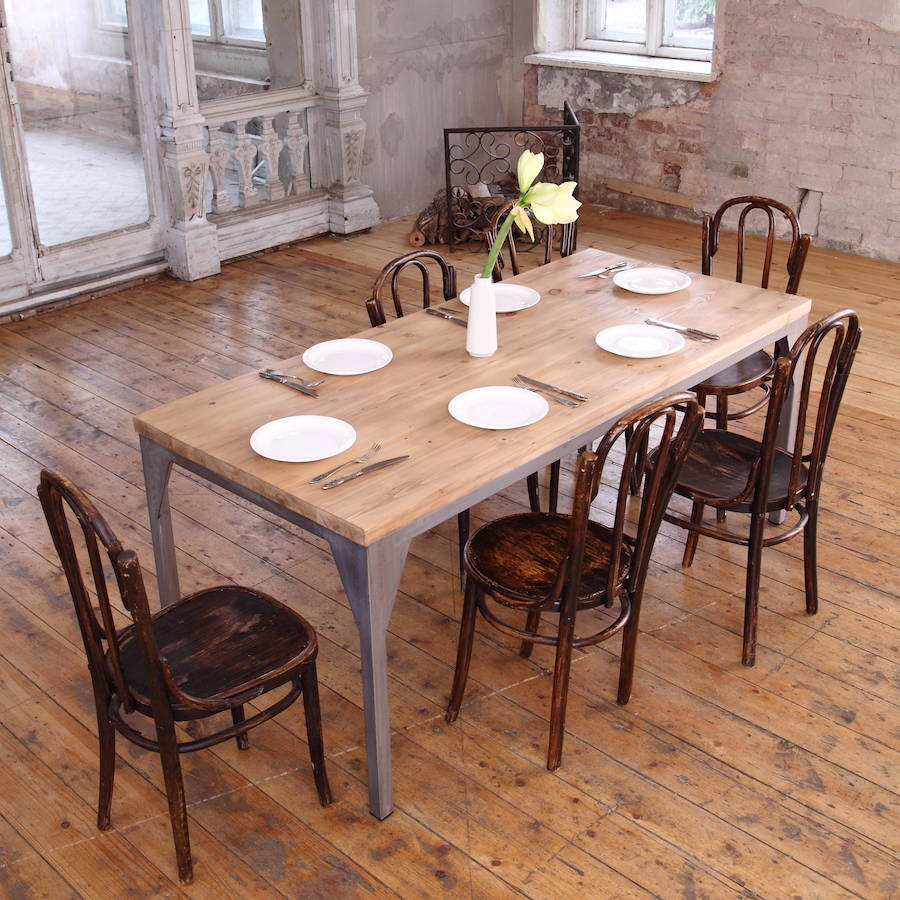 industrial style dining table industrial kitchen table Wood Dining Table From Pottery Barn New Industrial Style