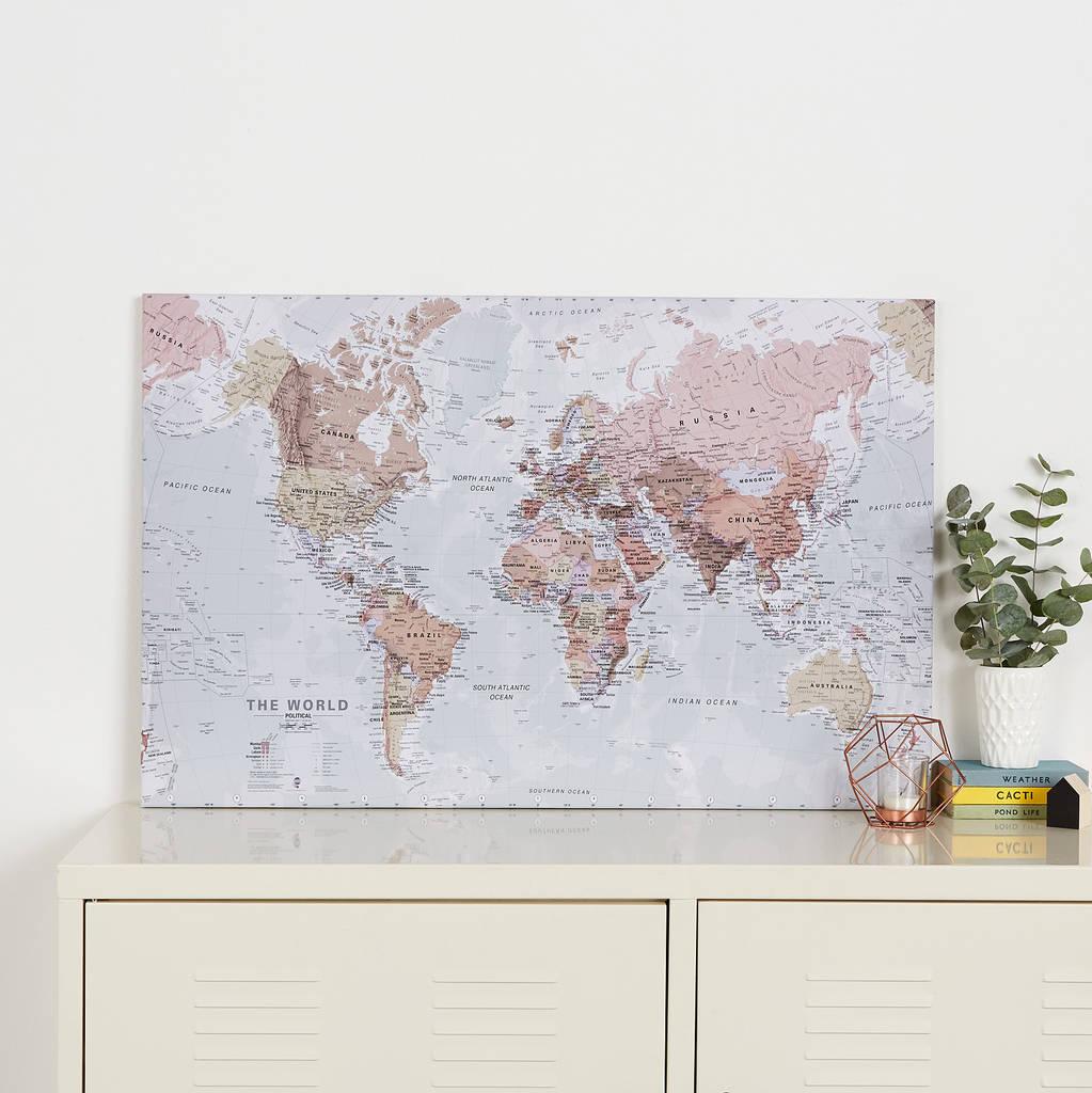 Examplary Executive World Map Canvas Print Executive World Map Canvas Print By Maps International World Map Canvas Uk World Map Canvas G houzz-02 World Map Canvas