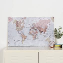Small Crop Of World Map Canvas