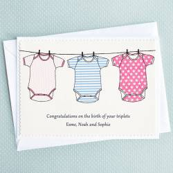 The Triplets New Baby Triplets Girls Boys Personalised Card By Jenny Arnott Congratulations On Baby Girl Gif Congratulations On Baby Girl New Baby Card