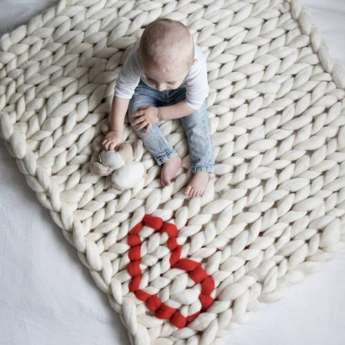 Medium Of Knitted Baby Blanket