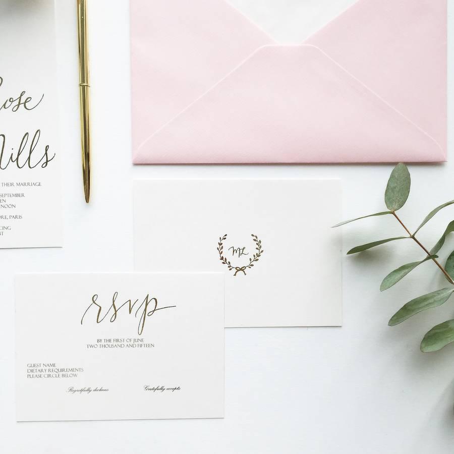 luxe handwritten gold foil wedding invitation handwritten wedding invitations Luxe Handwritten Gold Foil Wedding Invitation Gsm