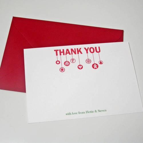 Medium Of Christmas Thank You Cards