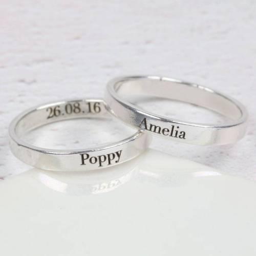 Medium Crop Of Name Engraved Ring