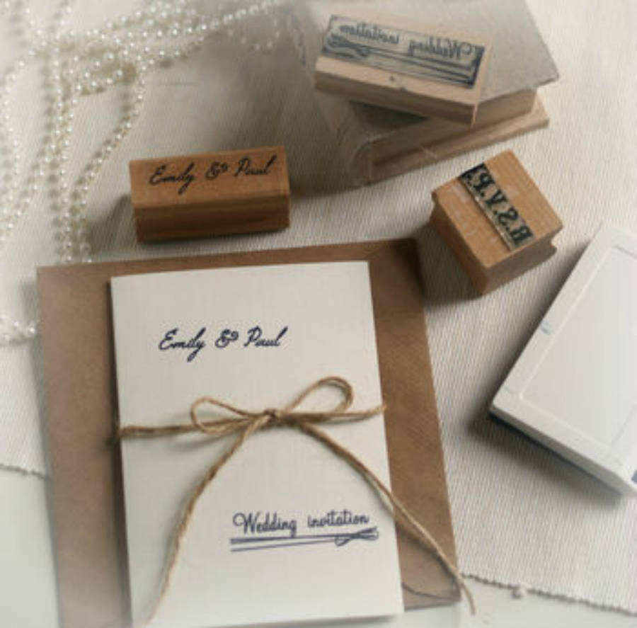 diy wedding invitations personalised rubber stamps set wedding invitation stamps Diy Wedding Invitations Personalised Rubber Stamps Set