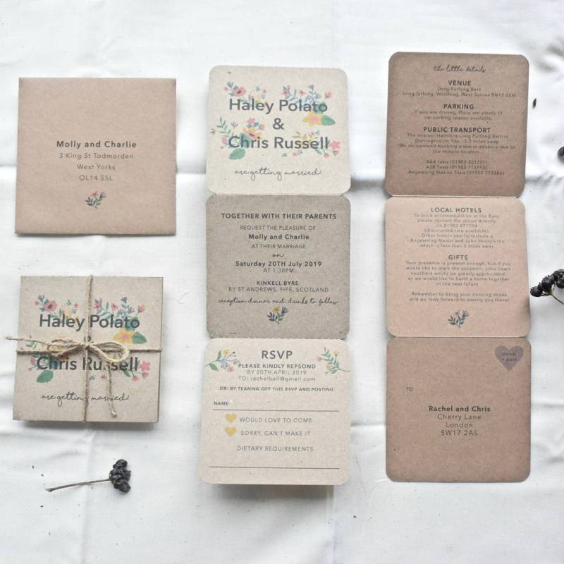 How To Make Wedding Invitations At Home 3 Fold | Invitationswedd.org