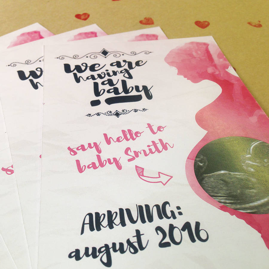 Fullsize Of Pregnancy Announcement Cards