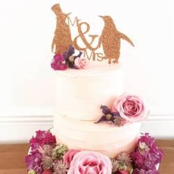 Encouraging Dog Wedding Cake Per Initials Mrs Penguin Wedding Cake Per Mr Mrs Penguin Wedding Cake Per By Suzy Q Designs Wedding Cake Per Mr