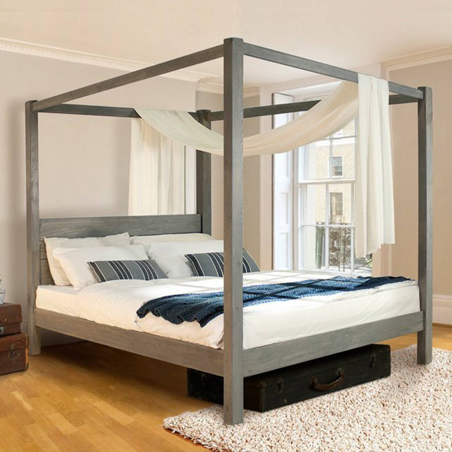 Favorite Wooden Four Poster Bed Frame Classic Wooden Four Poster Bed Frame Classic By Get Laid Beds Four Poster Bed Plans Four Poster Bed Diy houzz 01 Four Poster Bed