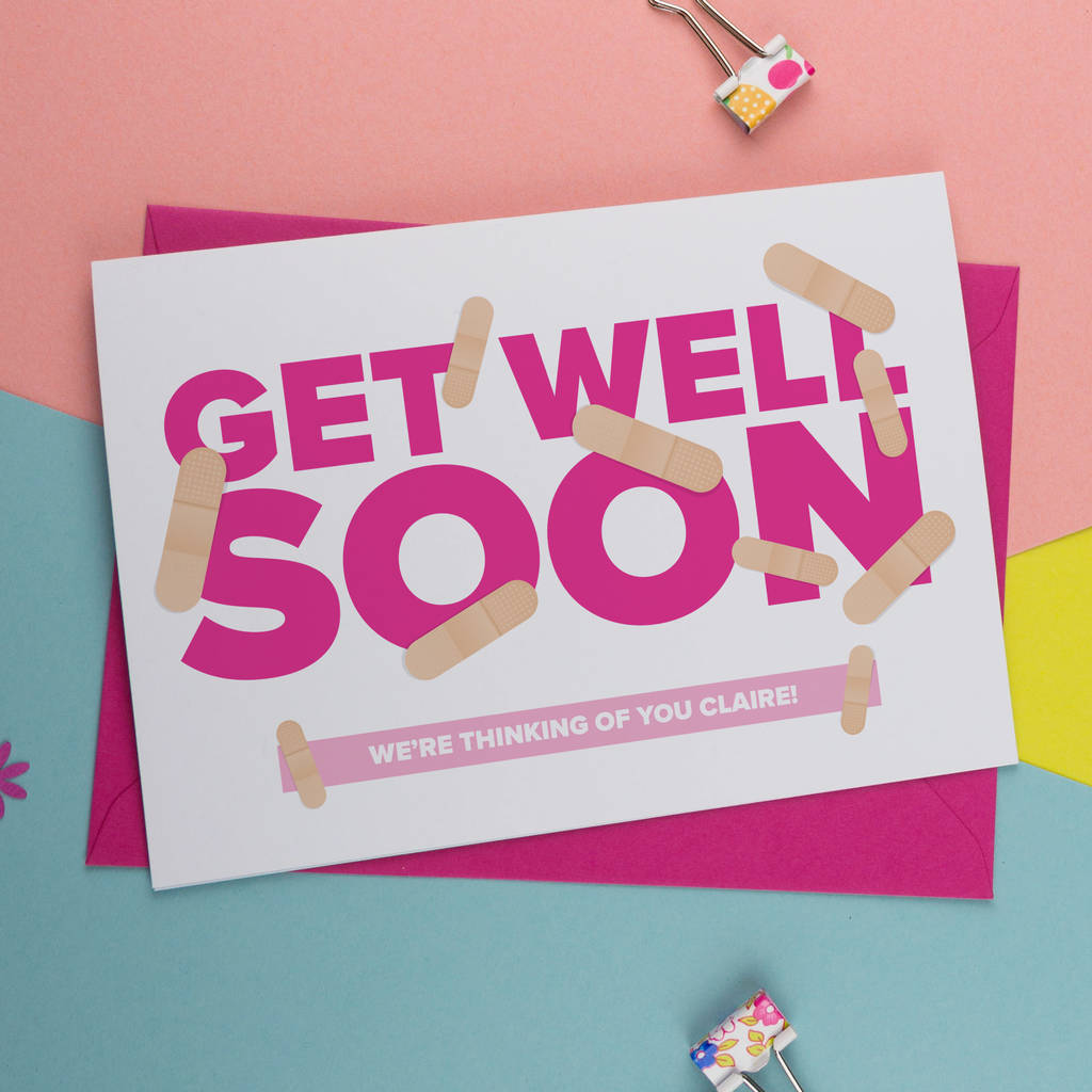 Ideal Bror Personalised Get Well Soon Card Personalised Get Well Soon Card By A Is Alphabet Get Well Soon Cards To Color Get Well Soon Cards cards Get Well Soon Cards