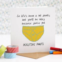 Comely You Cards Amazon Thinking You Card By Green Gables Thinking You Card Positive Pants Thinking You Cards Her Personalised Positive Pants Thinking
