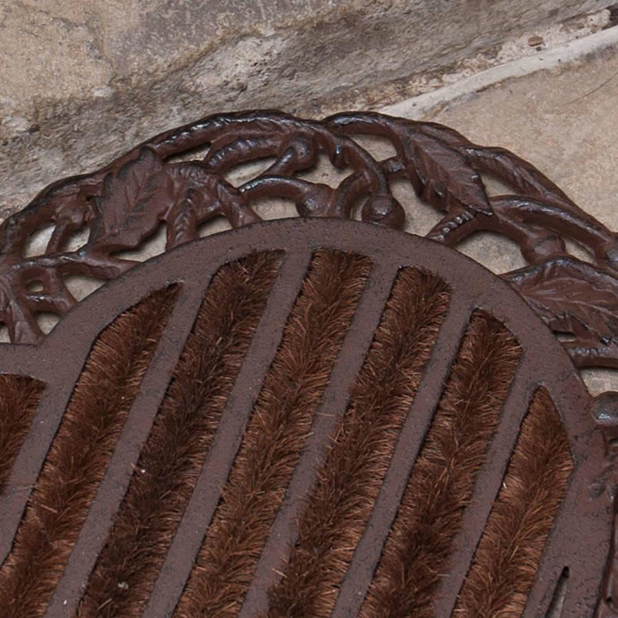 heart cast iron doormat 6th wedding anniversary gift 6th Wedding Anniversary Iron Heart Doormat