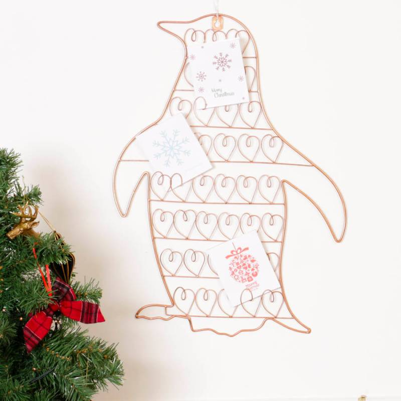 Fascinating Wall Hanging Copper Penguin Card Her Wall Hanging Copper ...
