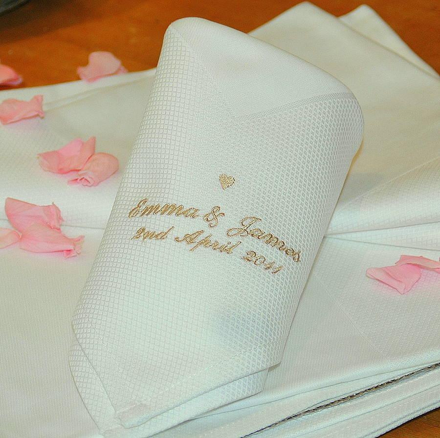 personalised wedding napkins napkins for wedding Personalised Wedding Napkins
