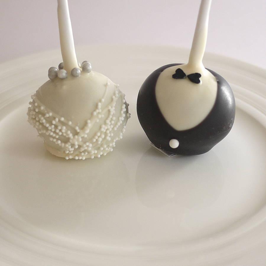 wedding cake with pops wedding cake pops Bride Groom Wedding Cake Pops