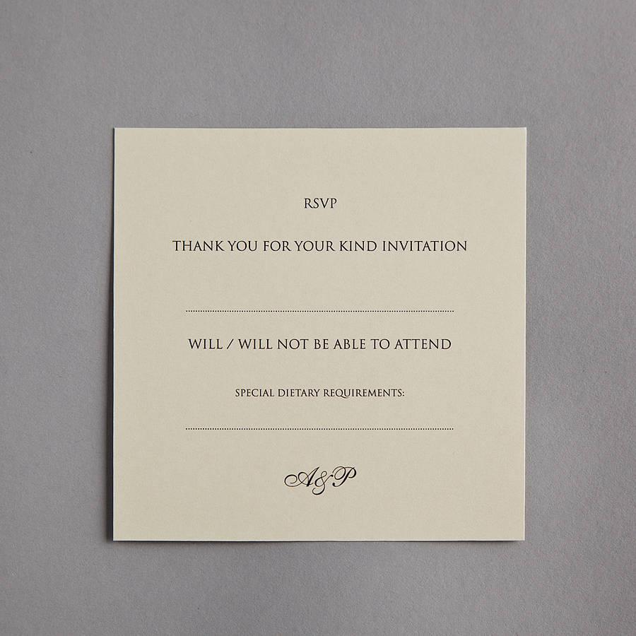 Monogram Wedding Invitation By Twenty Seven Notonthehighstreet