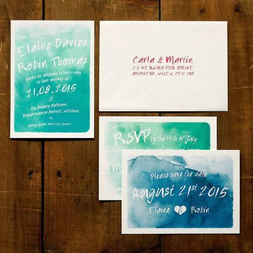 wedding invitation suites australia wedding invitation suites Whimsical Watercolour Wedding Invitation Set By Feel Good