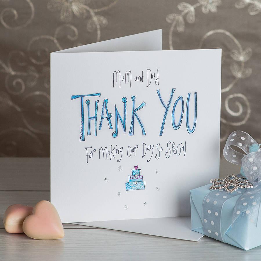 crystal mum and dad wedding thank you card thank you wedding cards Crystal Mum And Dad Wedding Thank You Card