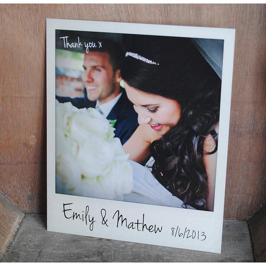personalised polaroid wedding thank you cards thank you wedding cards wedding thank you cards