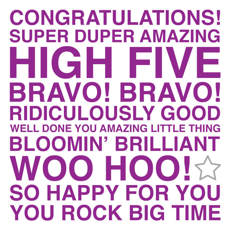 Shapely Congratulations Sentiments Card Congratulations Sentiments Card By Megan Claire Congratulations You Did It Quotes Congratulations You Have Done It inspiration Congration You Done It