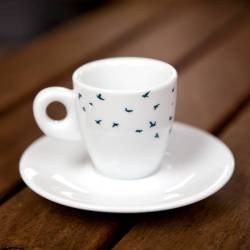 Radiant Navy Birds Espresso Cup Saucer Gift Set Navy Birds Espresso Cup Saucer Gift Set By Kate Moby Espresso Turkish Coffee Cups