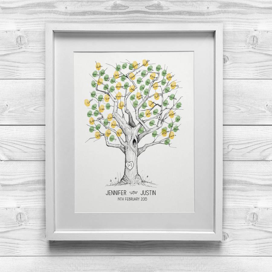 oak wedding fingerprint tree wedding tree Oak Wedding Fingerprint Tree alternative