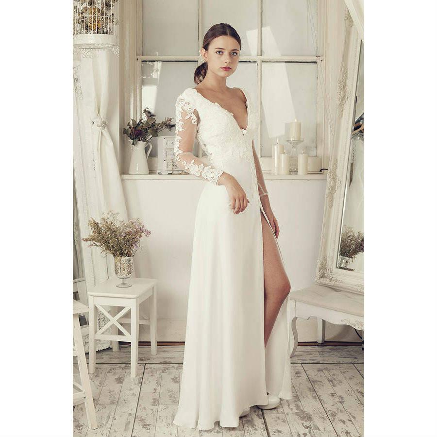 wedding dresses accessories wedding dress com Long Sleeves Soft White Wedding Dress wedding dresses