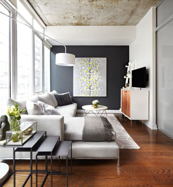 51 Modern and fresh interiors showcasing gray paint Gray Interior Paint Ideas 01 1 Kindesign