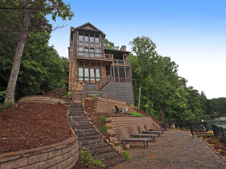 Flossy Lake Bluff Rustic Kindesign Lake House Lake Bluff Lodge Rustic Houses Images Rustic River Park Homes Images home decor Rustic Homes Images