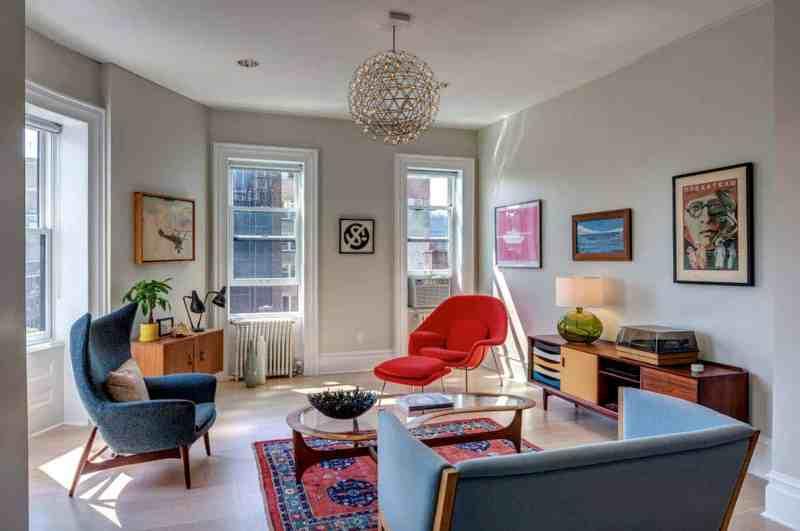 Large Of Mid Century Living Room