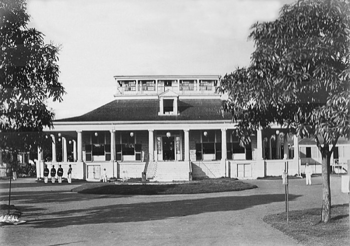 4) The original Hale Ali'I, home to King Kamehameha IV and Queen Emma, on the site that is now home to the Iolani Palace.