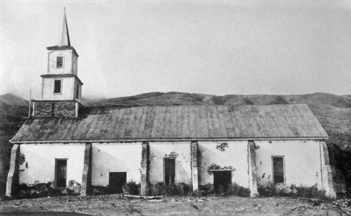 5) This photograph of the historic Kalua'aha Church on the island of Molokai was taken before its first restoration in 1912.