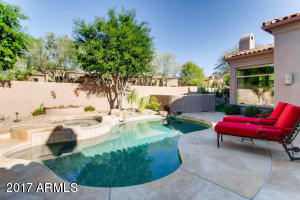 Enjoy the pool, spa, built in BBQ in the large entertaining space