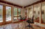 Bright, spacious office/bedroom overlooks gardens