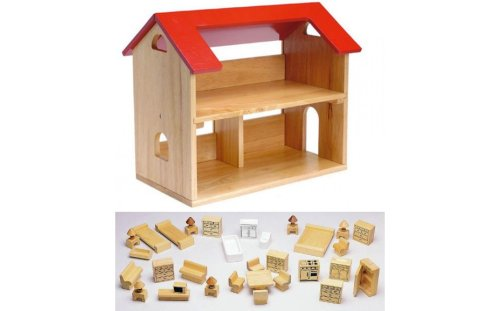 Contemporary Solid Wood Dollhouse Furnished Or Solid Wood Dollhouse Furnished Or Play Wooden Doll House Toys Wooden Dollhouse Accessories